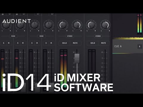 Audient ID14 - ID Mixer Software Overview
