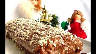 Торт Рождественское  шоколадное полено'