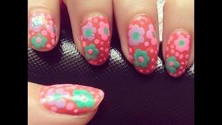 Easy floral nail art design 9  | Beauty Intact Thumbnail