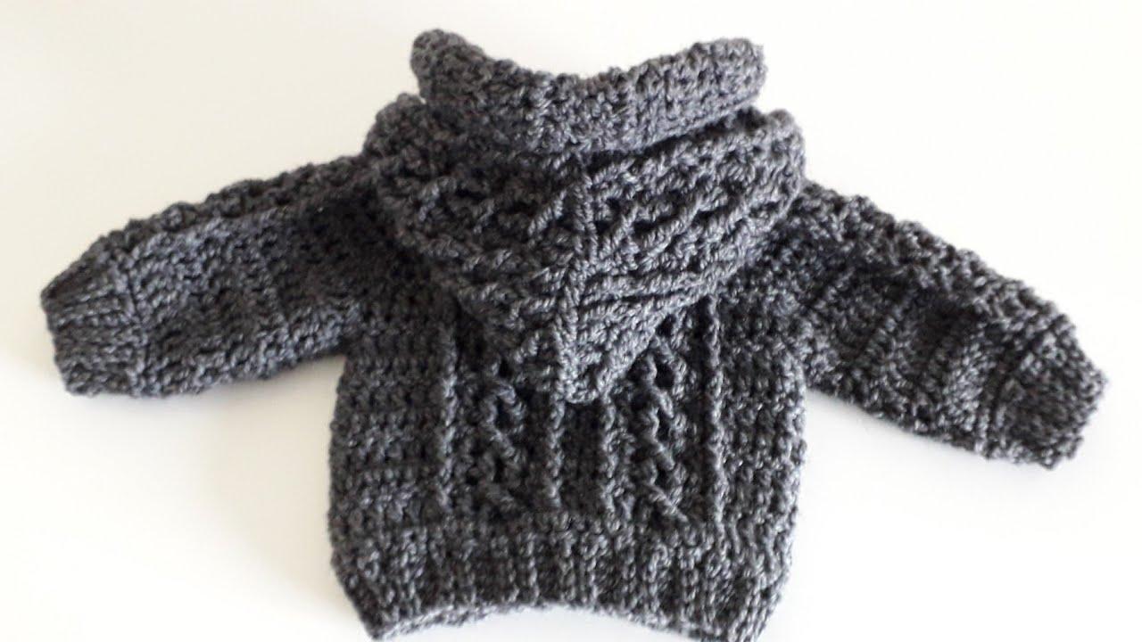 Crochet #31 How to crochet Aran baby hoodie /Part 1