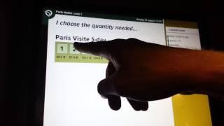 Paris metro ticket - how to buy in ticket machine