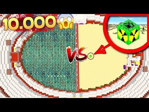 10.000 ZOMBIES VS 1 BOMBE NUCLÉAIRE 😱 SUR MINECRAFT !