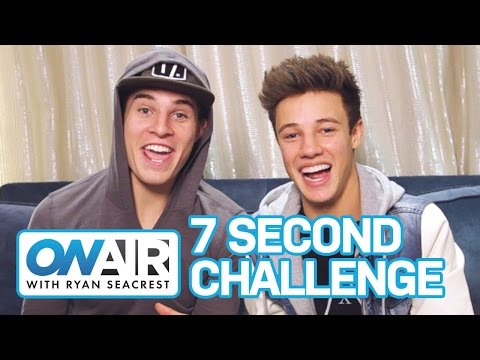 7 SECOND CHALLENGE w/ Cameron Dallas & Marcus Johns | On Air with Ryan Seacrest