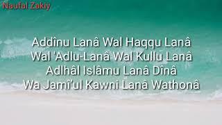 Video Az Zahir - Addinu Lana (Lirik) download MP3, 3GP, MP4, WEBM, AVI, FLV Oktober 2018