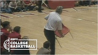 Bobby Knight throws chair, gets ejected vs. Purdue in 1985 [Full Incident] | College Basketball