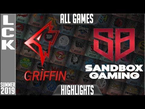 GRF vs SB Highlights ALL GAMES | LCK Summer 2019 Week 2 Day 1 | Griffin vs sandbox Gaming
