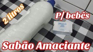 SABÃO AMACIANTE CASEIRO P/ROUPAS DELICADAS DO BEBE