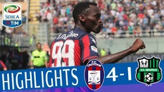 Crotone - Sassuolo 4-1 - Highlights - Matchday 35 - Serie A TIM 2017/18