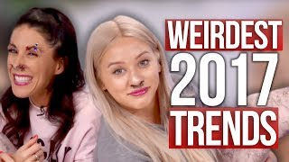 Worst & Weirdest Beauty Trends of 2017!! (Beauty Break) by : Clevver Style
