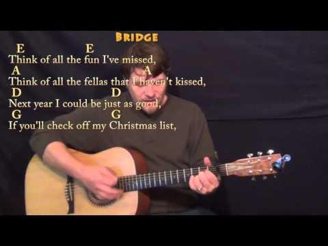 Santa Baby (Eartha Kitt) Strum Guitar Cover Lesson With Chords/Lyrics