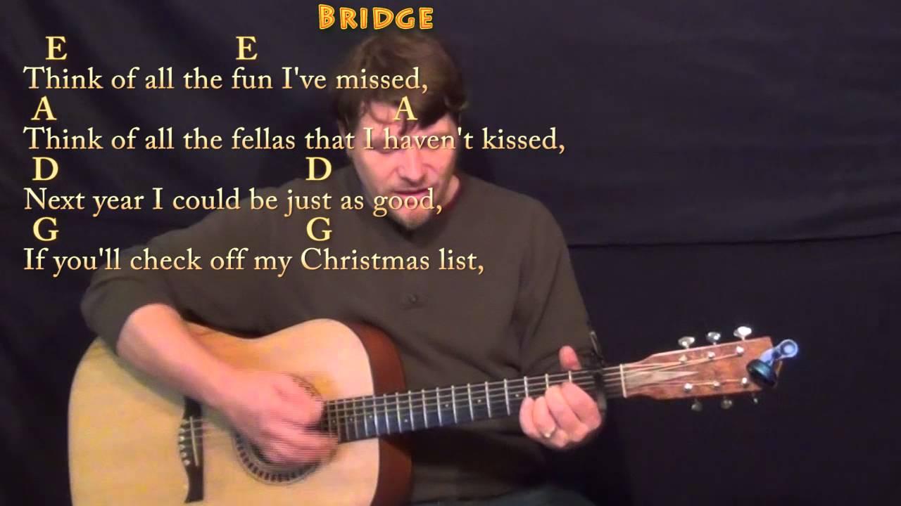Santa Baby Eartha Kitt Strum Guitar Cover Lesson With Chords