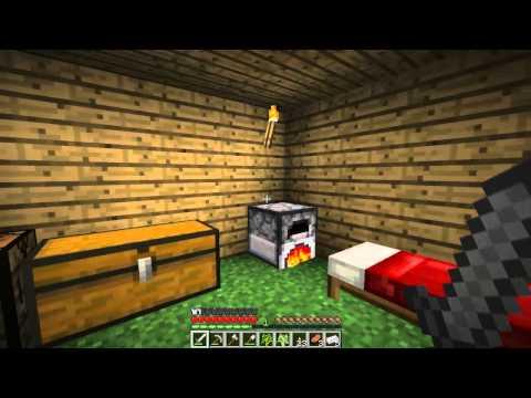 Minecraft Туториал №2 - Как сделать печку, Железо, Еда, Мобы