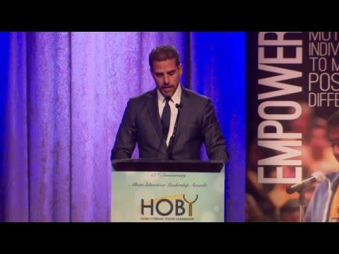 HOBY LA Gala 2015 - Albert Schweitzer Honoree: Beau Biden, accepted by Hunter Biden