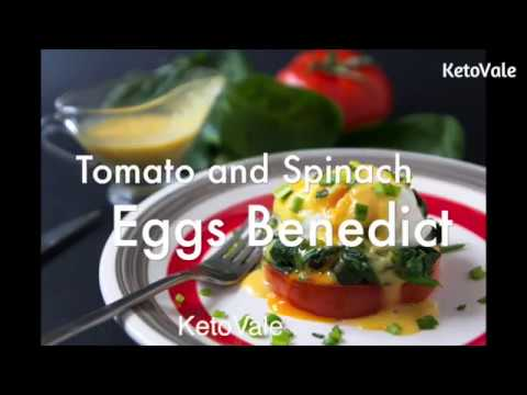 Keto Tomato and Spinach Eggs Benedict Low Carb Recipe