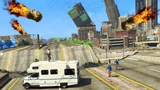 GTA 5 - THE END OF THE WORLD!! (Purge, Meteors, Zombies & More)