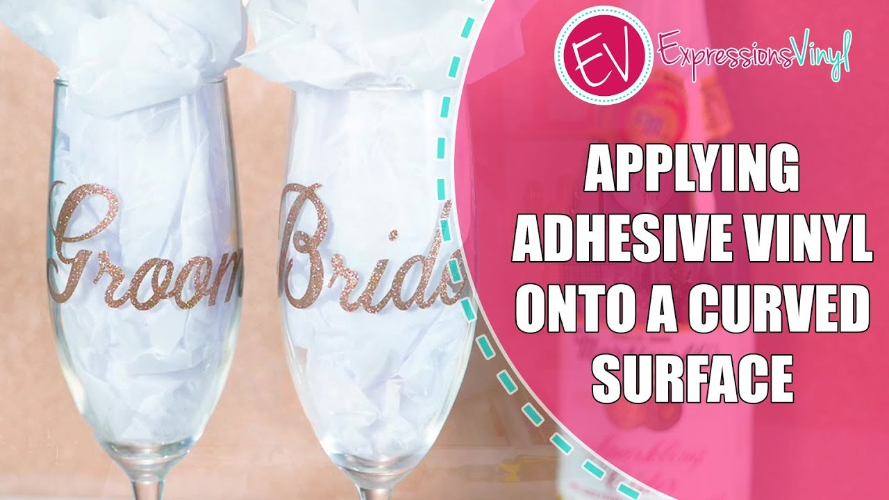 How to apply adhesive vinyl on a curved surface amy