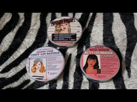 The Balm Powders: Mary-Lou,Cindy-Lou,Betty-Lou Manizer Review | Swatches