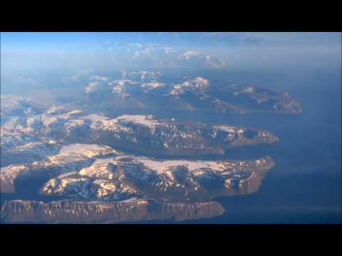 Overflight of the  incredible icecap of  Greenland