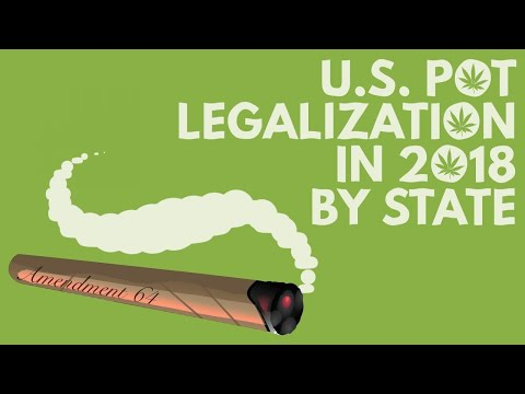 US states that will vote on marijuana legalization in 2018