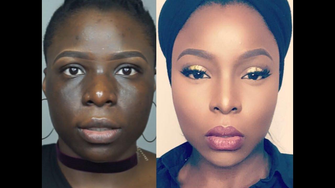 Skin Finish Foundation Routine For Hyperpigmentation On