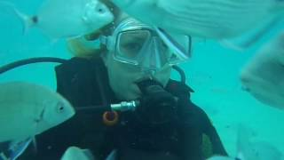 Coz and Ella scuba dive in Majorca 2013