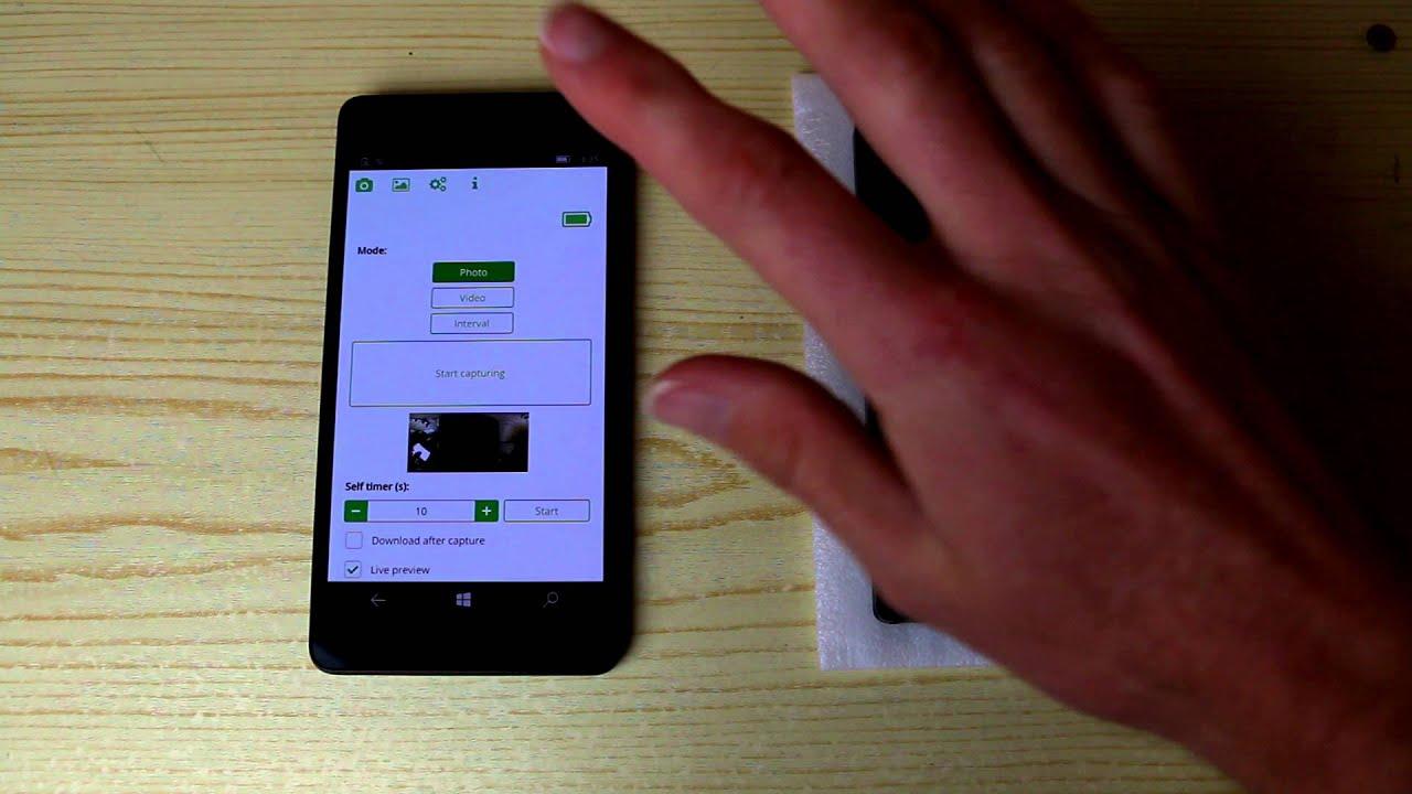Remote control app for Ricoh Theta S 360° degree camera (Windows Phone)