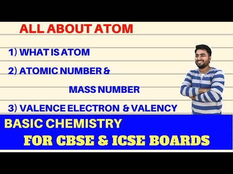 Atom, Atomic number, Mass number, Valence electron, Valency