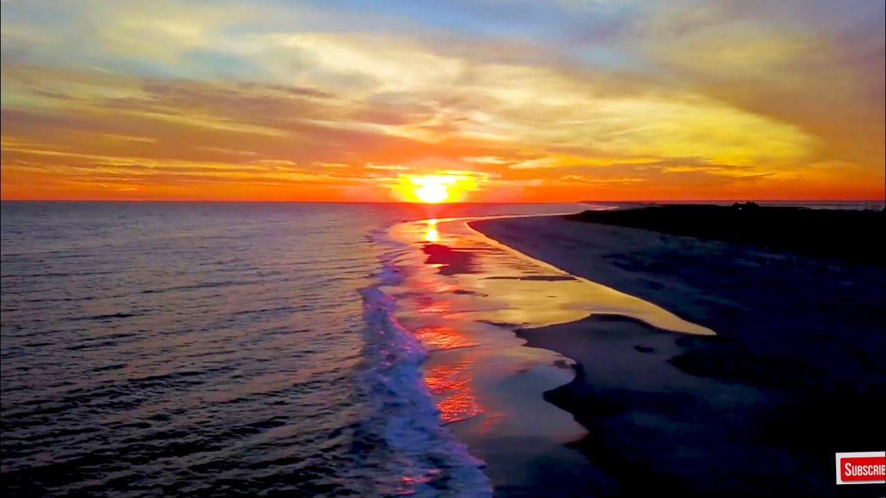 4k Screensaver Ocean Sunset Wallpaper Hd New York Aerial Video Calming Music Youtube