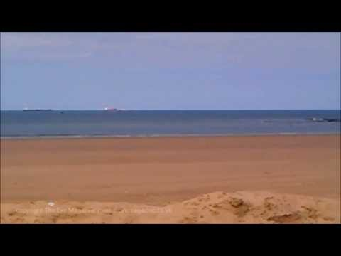Redcar Seafront Before During Windfarm Construction