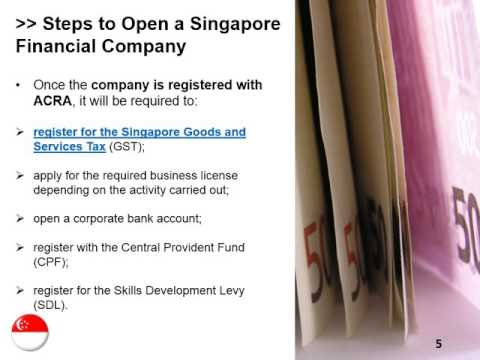 Open a Financial Company in Singapore