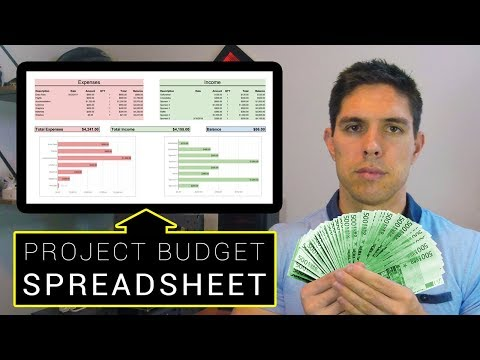 How To Make A Project Budget Spreadsheet