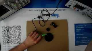 Laser module line 50mW green