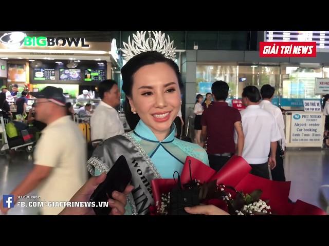 Mrs Universe 2018 - Châu Ngọc Bích trở về nước sau đăng quang