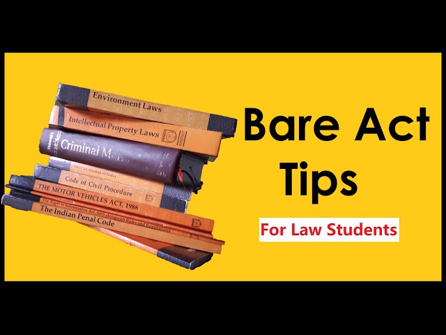 Bare Act reading (basic tips) for lawyers