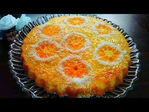 🍊avez-vous-des-mandarines-?-faites-ce-gâteau-maintenant!-كيكة-الماندرين🍊هشيشة-ولذيذة-بزاااف