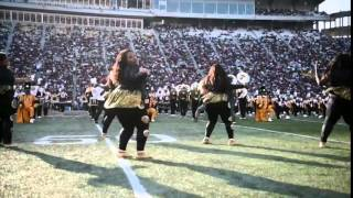 The Alabama State University Mighty Marching Hornets Marching Band performs at the 2014 Magic City C