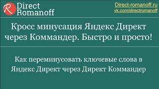 Кросс минусация Яндекс Директ