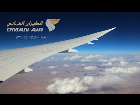 Oman Air 787  Muscat to Frankfurt full flight [Full HD]