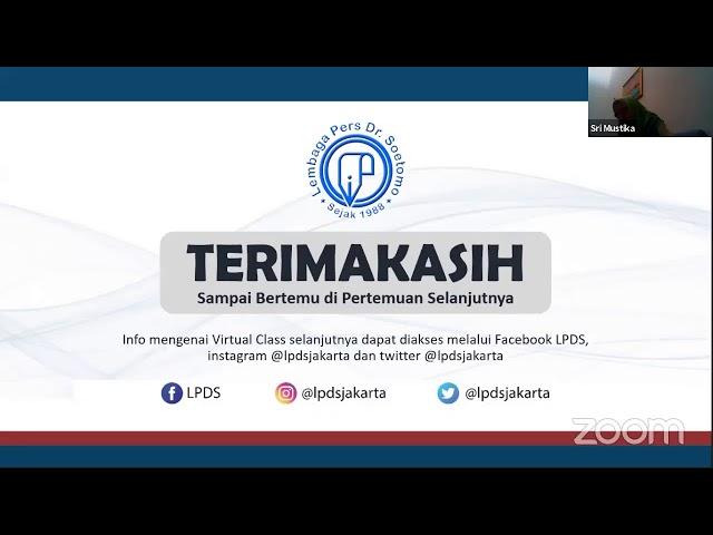 LPDS Virtual Class #27 - Wartawan dalam Bayang-Bayang Kekerasan Sepanjang 2020 & Prospek 2021