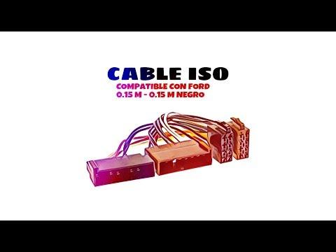Video de Cable de audio ISO compatible con Ford 0.15 M 0.15 M Negro