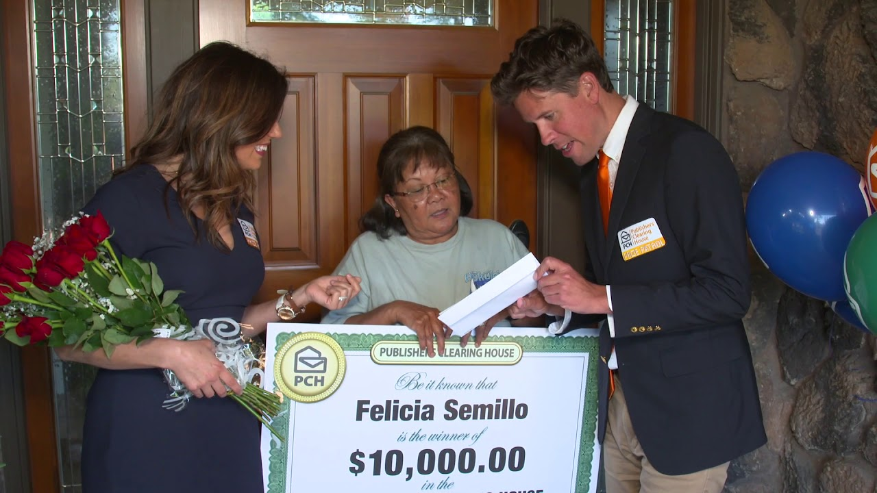 Publishers Clearing House Winners: Felicia Semillo from Stockton,  California Wins $10,000