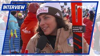 Fede Brignone dopo il 2° posto a St. Moritz
