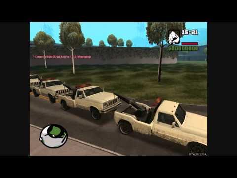 GTA San Andreas:Tow Truck Train [10 Trucks Edition]