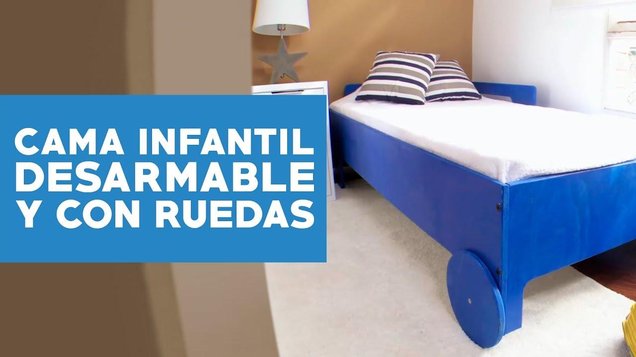 C mo hacer una cama infantil desarmable y con ruedas - Como hacer una cama infantil ...