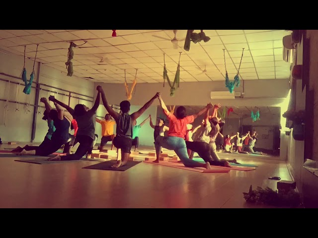 Mandala practice by Teacher Training students