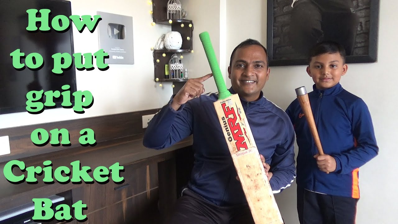 How to put grip on bat