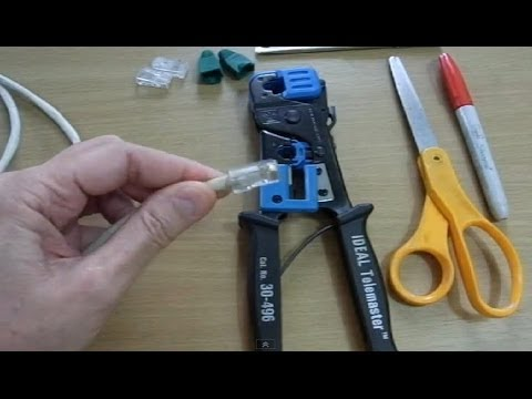 Make or Fix An Ethernet (Internet) Cable Yourself - DIY - Save Money!