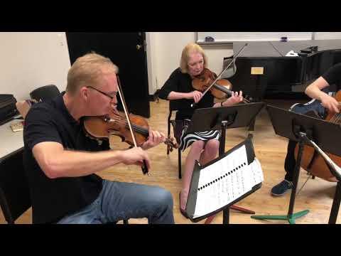 American String Quartet Rehearsal Oct. 2 2018