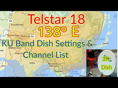 Telstar 18 Ku Band 138°E set on 2ft/60cm dish  Easy setting and channel list