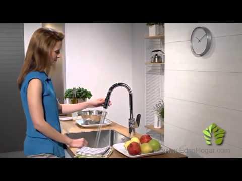 Hansgrohe focus grifo de cocina con ca o extraible youtube - Grifos de cocinas ...